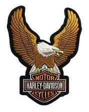 Harley Davidson UPWING Eagle Patch Brown (large)