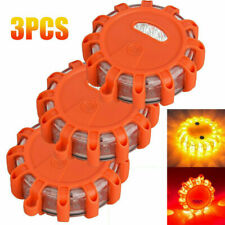 LED Road Flares Emergency Disc Safety Light Flashing Roadside Beacon Warning