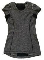Lululemon Shirt Size Small Womens Short Sleeve Running Top Gray Black