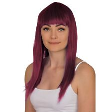 """WOMENS LADIES LONG 19"""" STRAIGHT WIG FANCY DRESS COSPLAY WIGS POP PARTY COSTUME"""