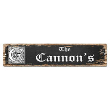 SPFN0436 The CANNON'S Family Name Street Chic Sign Home Decor Gift Ideas