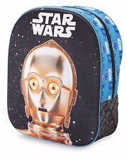 Star Wars 3D shape shoulder bag backpack schoolbag C-3PO