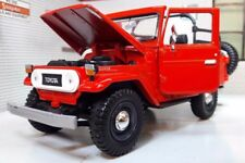 1:24 G Scale Toyota Land Cruiser FJ40 Open Back Red Motormax Diecast Model 79330