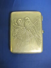 Birds. Cigarette Case. Silver Sterling. Old Russia