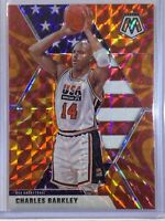 Charles Barkley Orange Reactive Prizm Team USA 2019-20 Mosaic #252