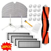 25PCS For Roborock Robot Vacuum Cleaner HEPA Filter Main Side Brush Mop Tool  L