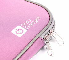 "Scratch Resistant Neoprene Pink Carry Case For Rock Xtreme 685 16"" Laptop"