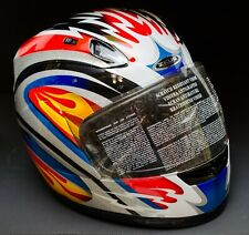 Zeus Motorcycle Helmet With Full Face Visor Multicolor Size X-Small