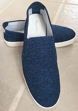 New Calvin Klein Inca Blue Canvas Sneaker Loafer White Sole sz 9M / 39 EU