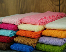1 Meter Spitze Polyester Spitzenband Lace elastisch 29 Farben Spitzenborte 8 cm