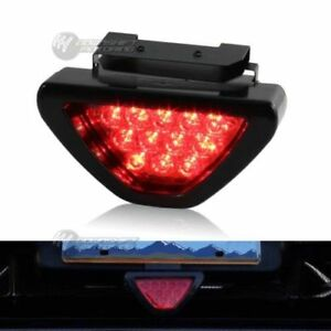 SPORTY F1 Style Triangle 12 LED Rear Stop Tail 3rd Brake Light - RED Universal 1