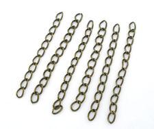 LOT de 30 CHAINETTES d'extension chaines env. 50mm  BRONZE création bijoux