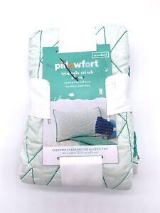 Pillowfort Mint Triangle Stitch Standard Pillow Sham