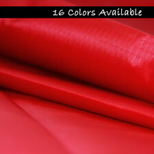 "New 5 Yards Red RIPSTOP NYLON WATERPROOF FABRIC / 61"" x 180"" FREE SHIPPING"