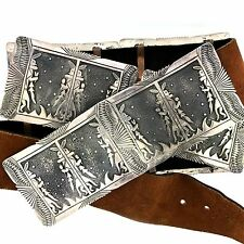 Native American Gibb Sterling Silver Overlay Kachina Concho Belt