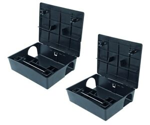 2 X RODENT BOX TRAP STATION - Professional Rat Mice Mouse No Poison or Bait Inc.