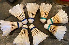 Set Of 8 Badminton Feather Shuttlecocks 5 Pioneer And 3 Others GUC