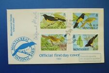1992 MONTSERRAT BIRDS FIRST DAY COVER SIGNED BY DR DESMOND MORRIS [ ZOO TIME ]