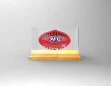 Football / AFL Premium Display Case - Football Display - TIMBER