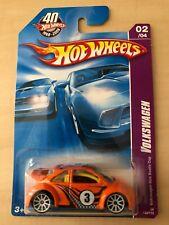 Volkswagen Vw New Beetle Bug Cup 1/64 Orange Hot Wheels 2008 New