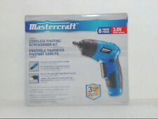 Mastercraft 054-2502-6 2pc 3.6V Cordless Pivoting Screwdriver Kit