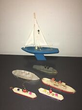 VINTAGE WOOD SHIP FLEET - SOME VERY OLD ONES!