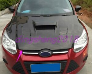 Front Engine Hood Bonnet Cover Trim For Ford Focus 2012 2013 2014