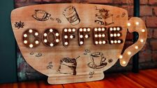 LIGHT UP CUP OF COFFEE SIGN WALL LAMP