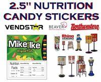 2.5 x 2.5 Bulk Vending Label Candy Machine Sticker Gumball MIKE IKE