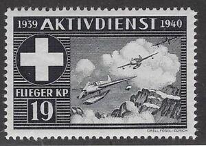 Switzerland Soldier stamp: Flieger Air Force, FLI #95 Blk: Flieger Kp.19- sw193q