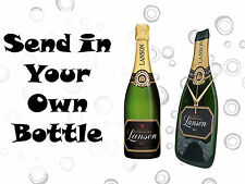 Personalised  Champagne Bottle Clock, Ideal Gift for weddings and Family