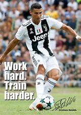 Ronaldo Juventus Poster Motivational #14 Signed (Copy) - A3 - 420mm x 297mm NEW