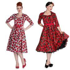 Knee Length 3/4 Sleeve Retro Dresses for Women