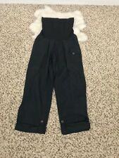 Motherhood Maternity Woman Casual Cargo Pant Sz M Cropped Pockets Stretch Black