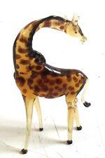 GIGI Giraffe YELLOW animal TYNIES Tiny Glass Figure Figurines Collectibles 0138