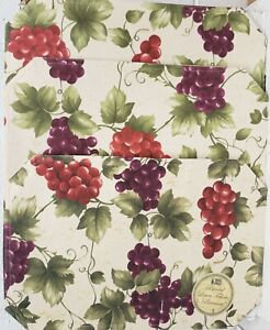 """SET OF 3 SAME KITCHEN FABRIC PLACEMATS 12"""" x 18"""", GRAPES # 15 by BH"""
