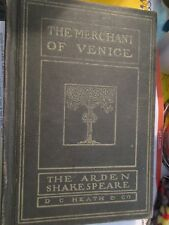 Merchant of Venice The Arden Shakespeare D C Heath & Co 1916 Hardcover Book