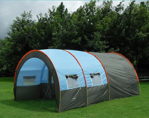 Doule Layer Tunnel Tent 8-10 person Outdoor Hiking  Tourist Family Camping Tent