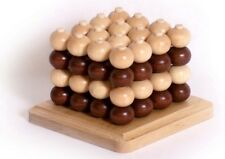 3D Tic Tac Toe Wooden Toy Traditional Family Favourite Quality Tic Tac Toe NEW