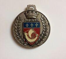 médaille vintage l'épi de blé de Paris la tour Eiffel en alliage argenté Ø38 22g
