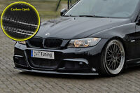 Frontspoiler aus ABS passend für BMW E90 E91 3er M-Paket mit ABE Carbon Optik