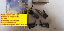 Kit blocchetto con chiave serrature porte Ford Transit 8/94-5/97 incompleto