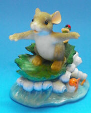 "Charming Tails ""Hang Ten"" Mouse Figurine By Fitz And Floyd"