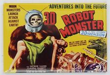 3D Robot Monster Movie Poster FRIDGE MAGNET Cult Classic Sci Fi Vintage Style