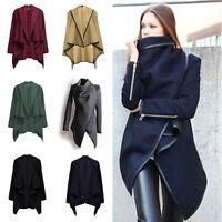 Women Trench Coat Warm Ladies Parka Overcoat Long Jacket Winter Outwear Zsell