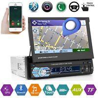 7'' 1DIN Bluetooth Autoradio Coche MP5 Reproductor Estéreo AUX USB FM TF GPS NAV
