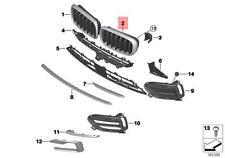 Genuine BMW X6 F16 Front Radiator Kidney Grille High NIVI Left OEM 51137373694