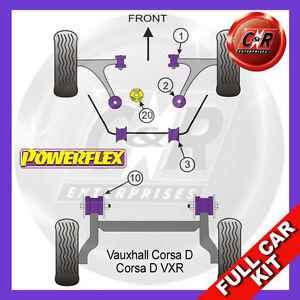 Opel Corsa D VXR Powerflex Complete Bush Kit