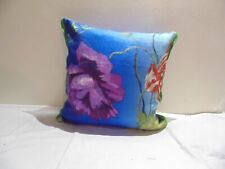 Designers Guild  floral 100% Linen Fabric Alexandria Lapis Cushion Cover
