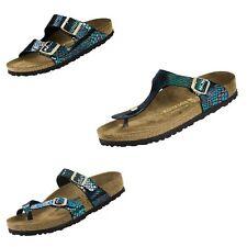 Birkenstock Gizeh Mayari Arizona Shiny Snake Black Multicolor Sandals Flip Flops